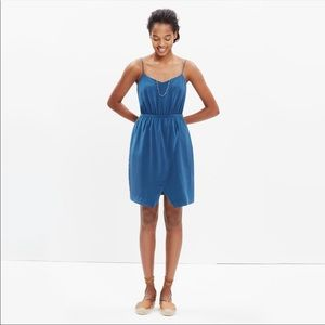 Madewell Blue Silk Dress Size 12 Style F2136